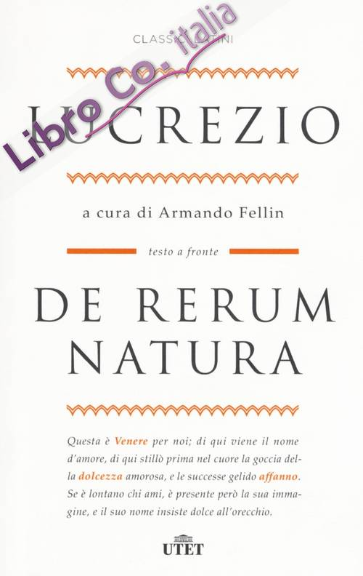 De rerum natura. Testo latino a fronte. Con ebook
