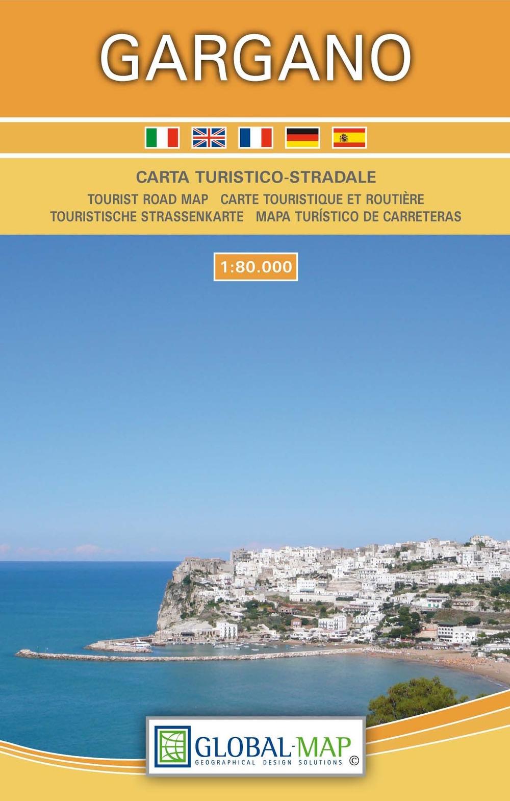 Gargano. Carta Turistico-Stradale. Tourist Road Map. Carte Touristique Et Routiere. Touristische Strassenkarte. Mapa Turistico De Carreteras