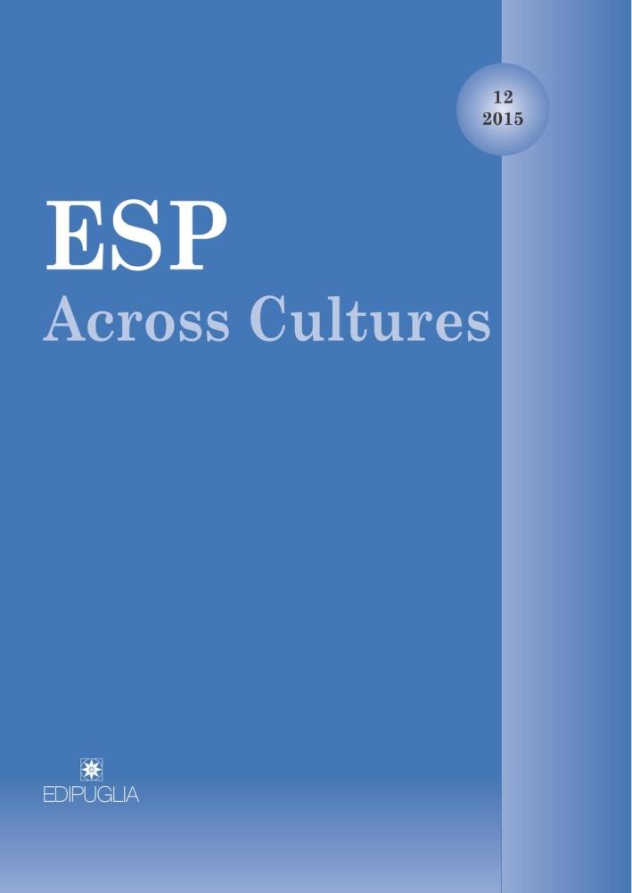 ESP Across Cultures. 2015. Vol. 12
