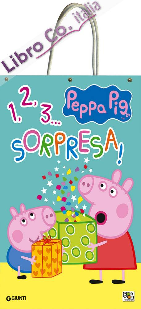 1, 2, 3... sorpresa! Shopper bag Peppa Pig