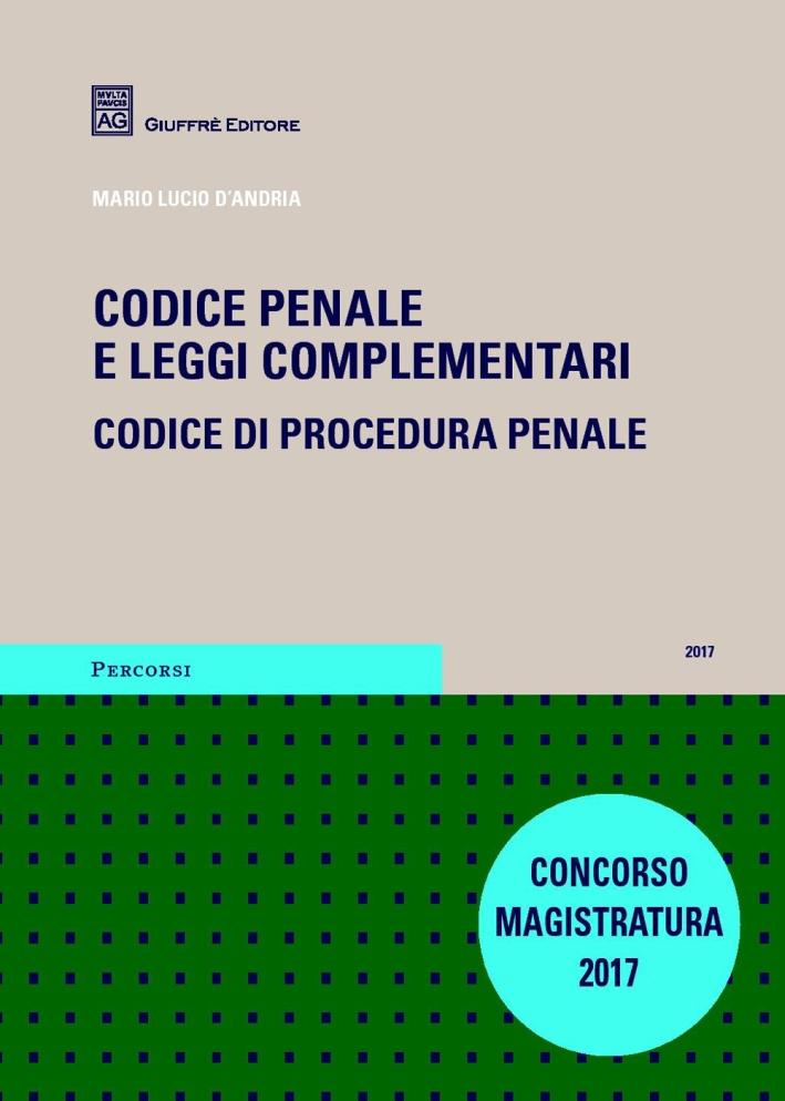 Codice penale e leggi complementari. Codice di procedura penale
