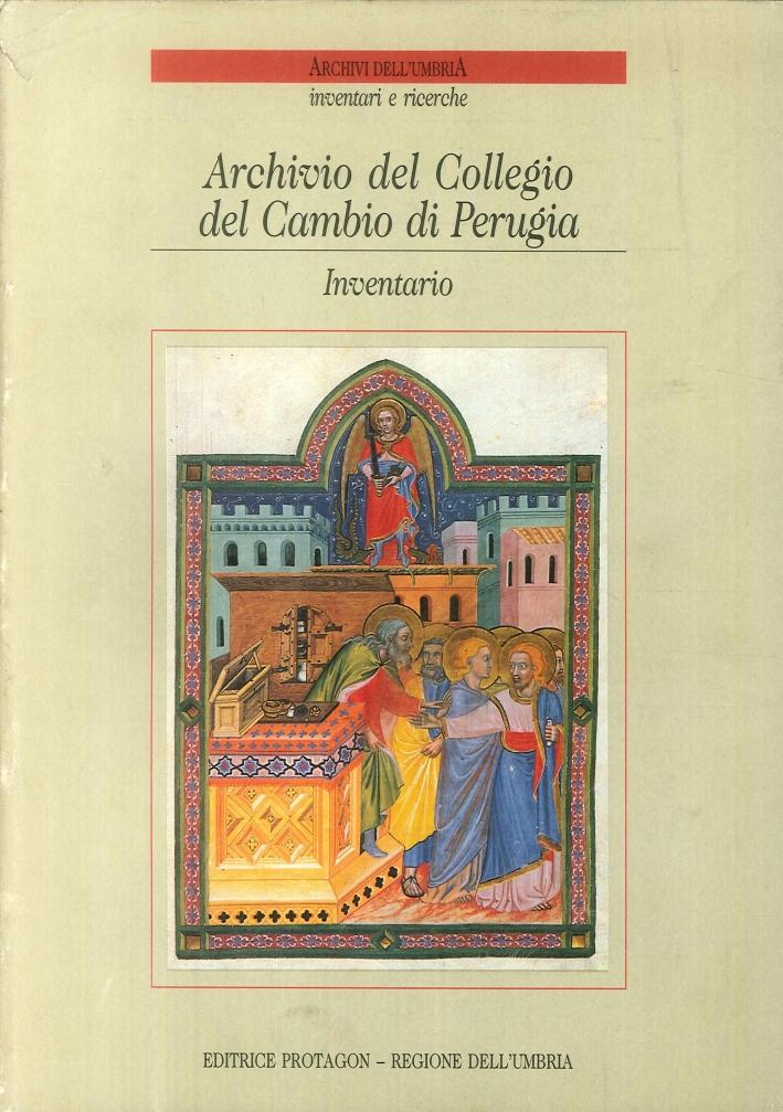 Archivio del Collegio del Cambio di Perugia. Inventario