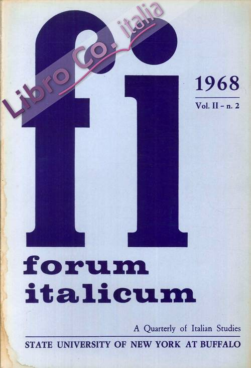 Forum Italicum. A quarterly of Italian Studies