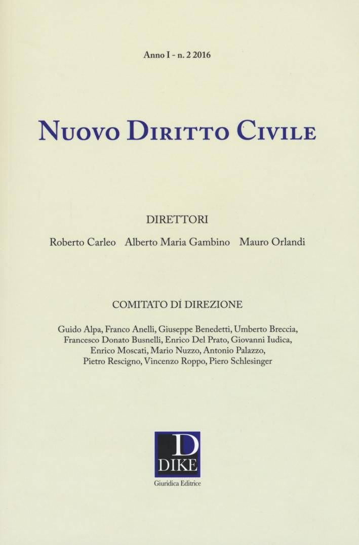 Nuovo diritto civile   (2016). Vol. 2