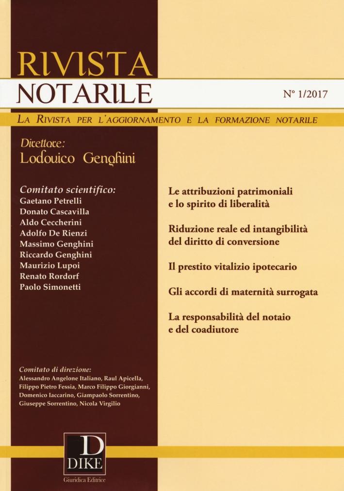 Rivista notarile (2017). Vol. 1