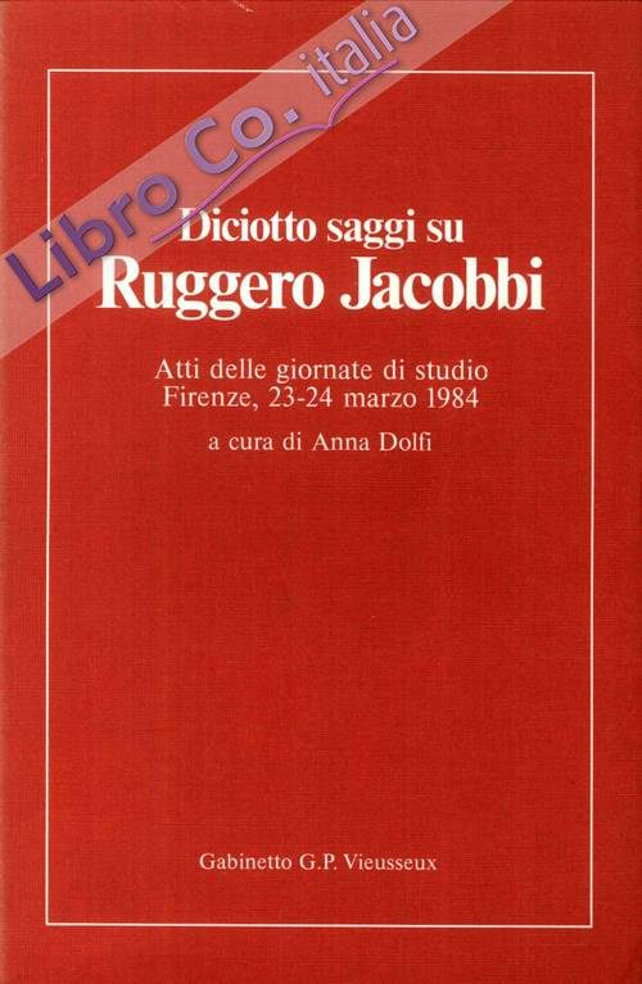 Diciotto Saggi Su Ruggero Jacobbi