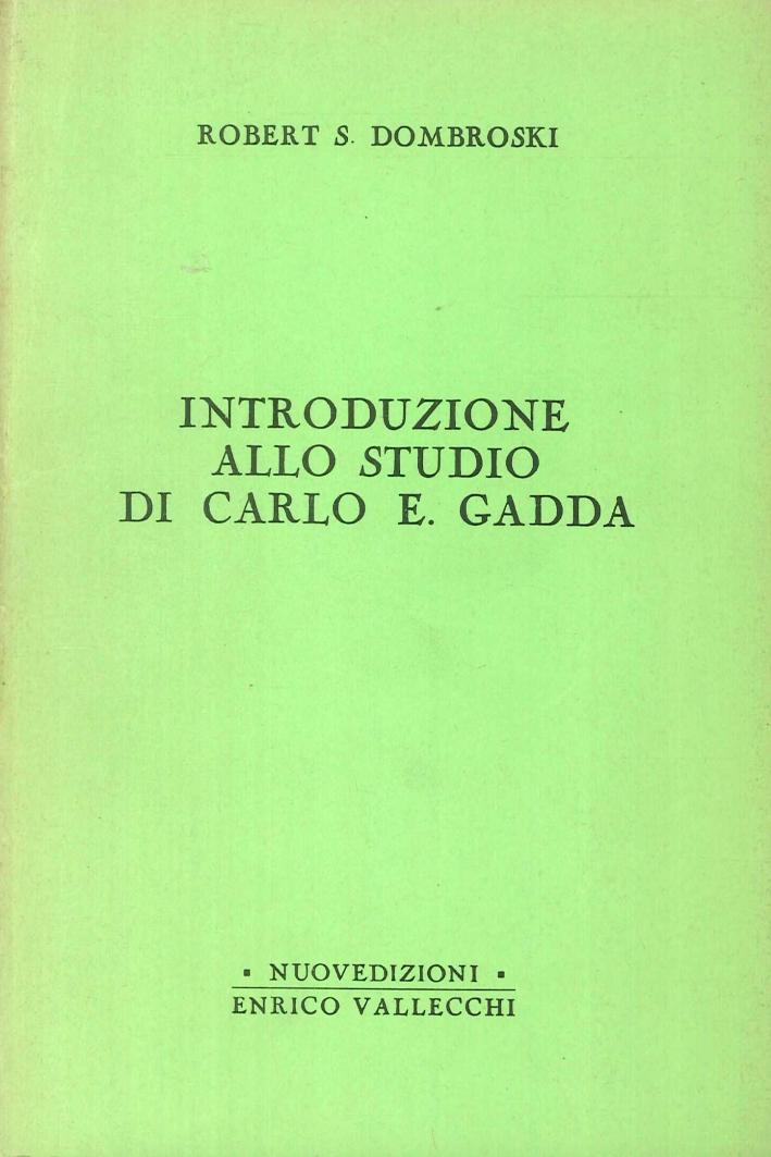 Introduzione allo Studio di Carlo Emilio Gadda