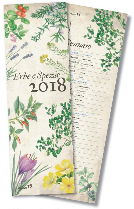 Calendario 2018 Erbe e Spezie