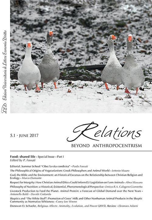 Relations. Beyond Anthropocentrism (2015). Vol. 5/1: Food: shared life