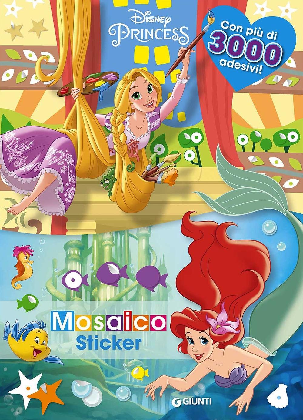 Principesse. Mosaico sticker. Con adesivi. Ediz. a colori
