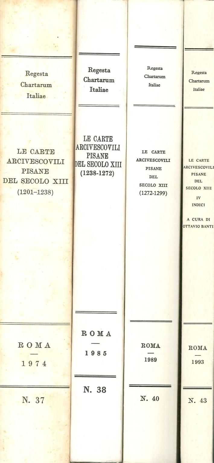 Le carte arcivescovili pisane del secolo XIII. 4 Voll.