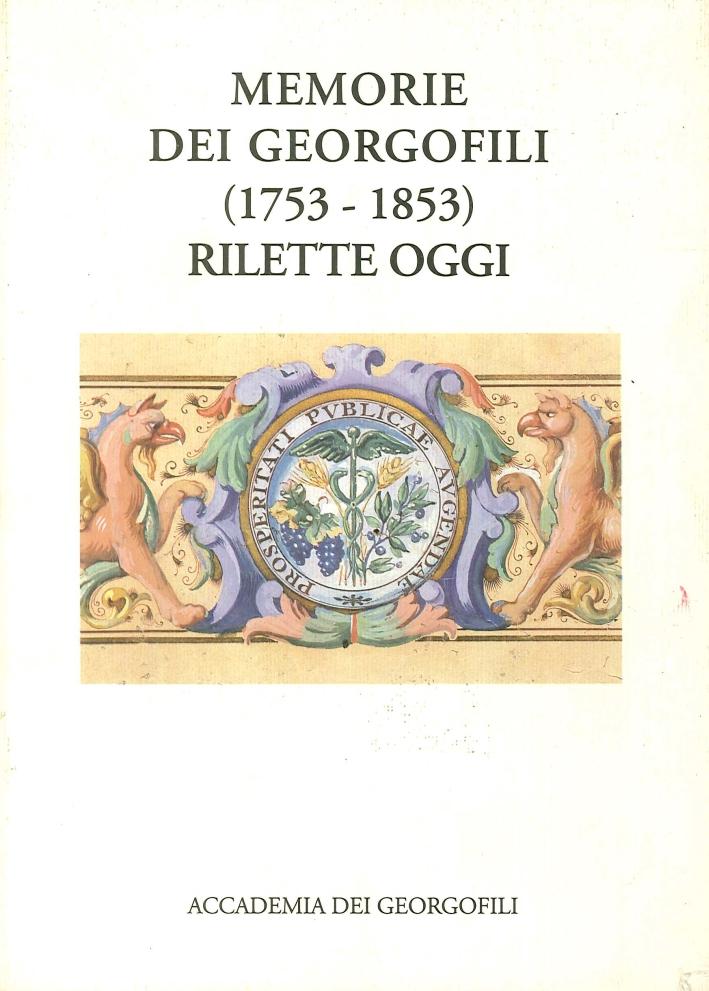Memorie dei Georgofili (1753-1853) Rilette Oggi.