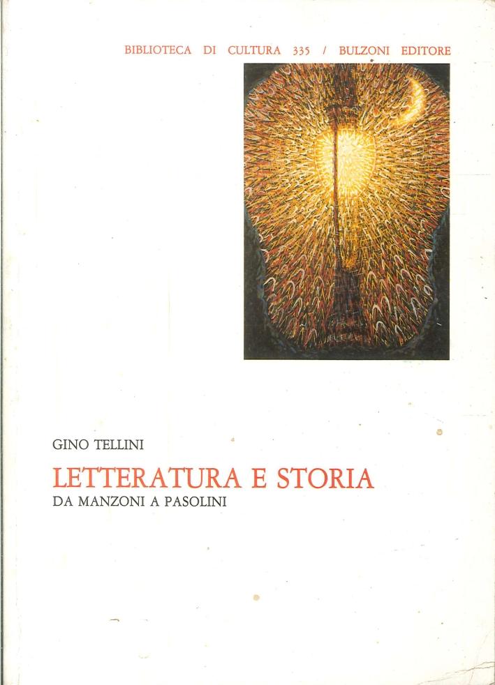 Letteratura e Storia. Da Manzoni a Pasolini