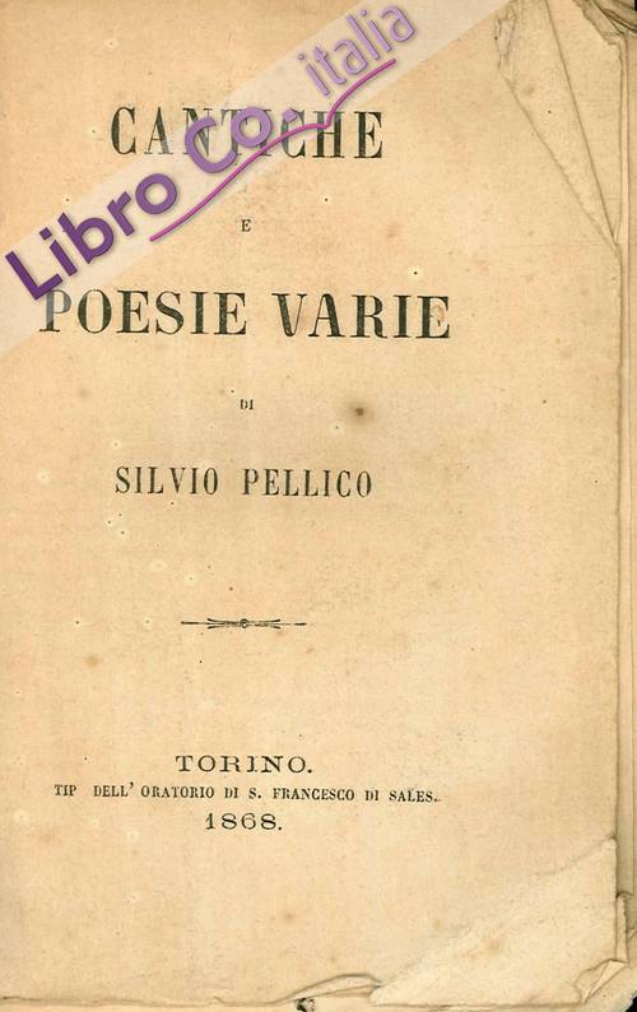 Cantiche e poesie varie