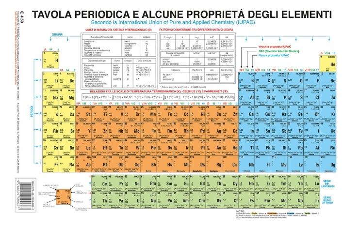 9788879599627 2017 tavola periodica e alcune propriet degli elementi secondo la - Tavola periodica in inglese ...