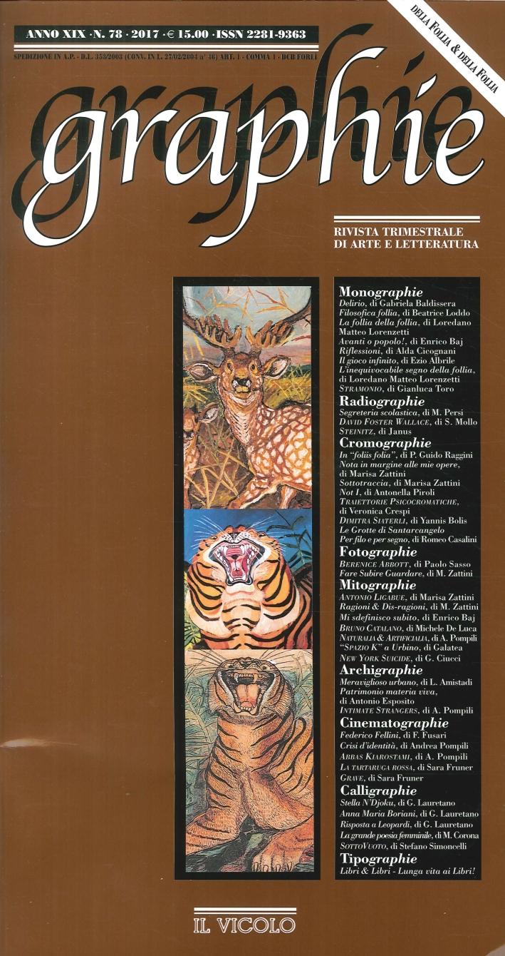 Graphie. Rivista Trimestrale di Arte e Letteratura. Anno XIX. N°. 78. 2017.
