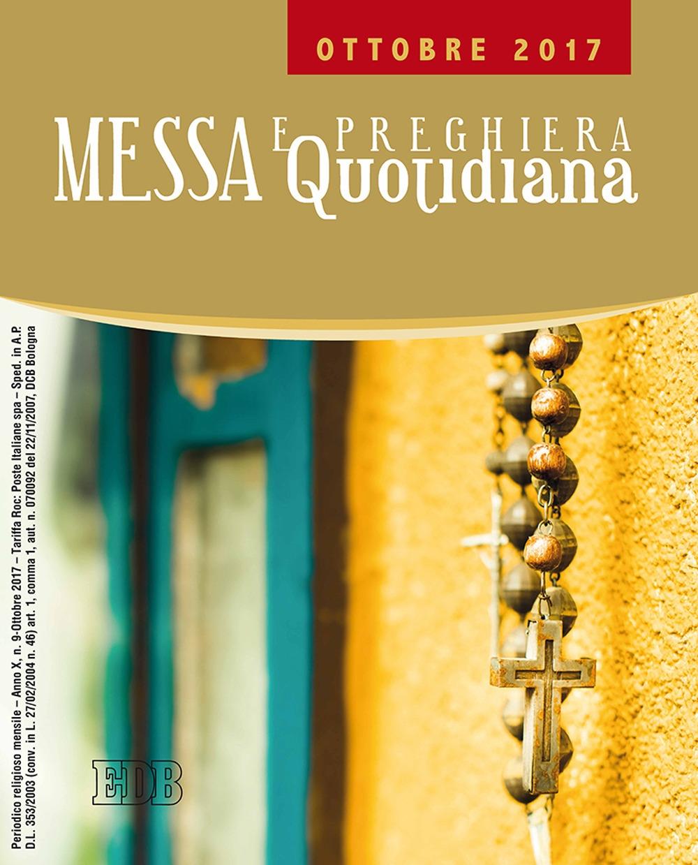 Messa e preghiera quotidiana (2017). Vol. 10: Ottobre 2017