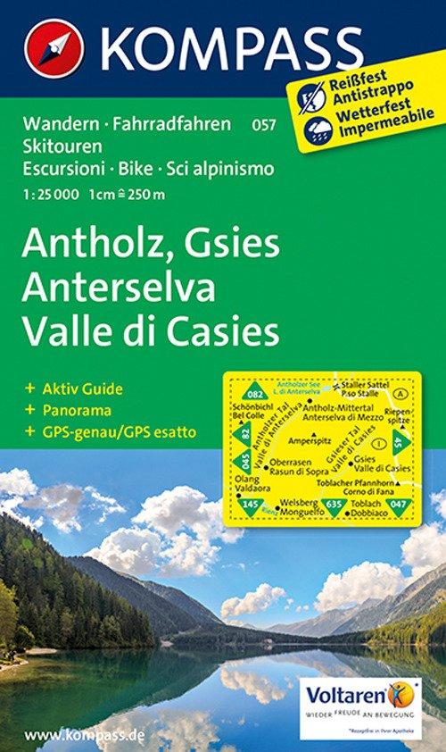 Wanderkarte n. 57. Antholz-Gsies-Anterselva-Valle di Casies