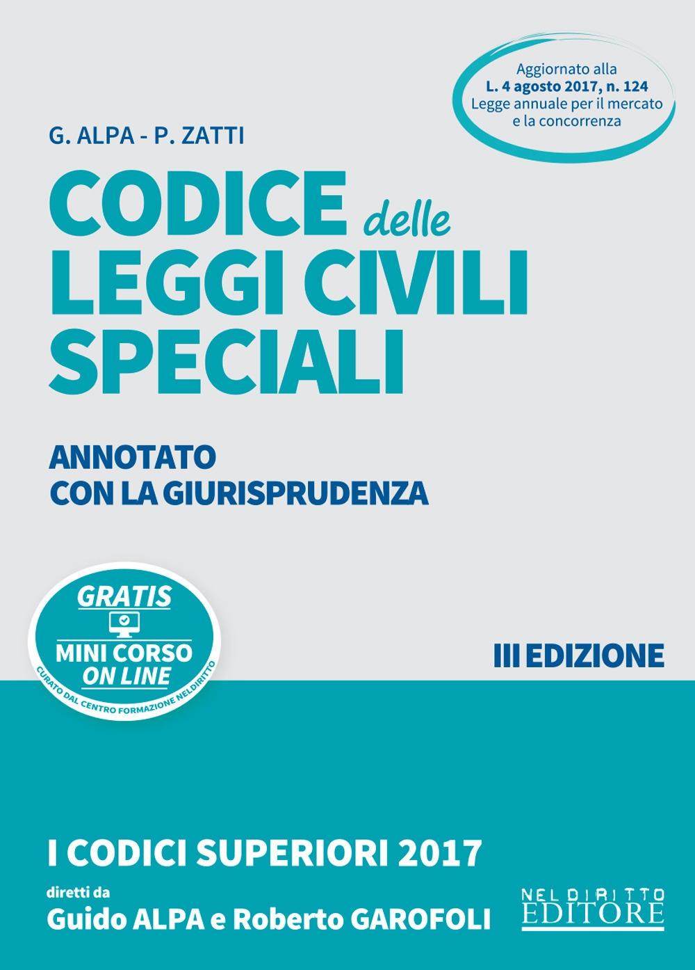 Codice delle leggi civili speciali annotato con la giurisprudenza. Con Contenuto digitale per download e accesso on line