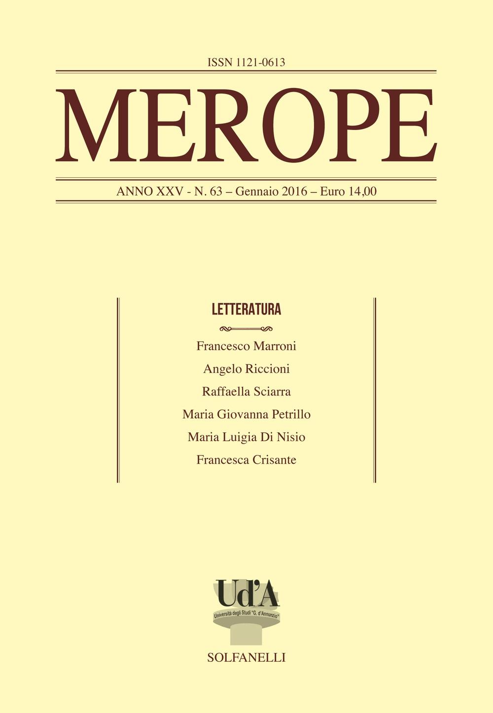 Merope. Vol. 63: Letteratura