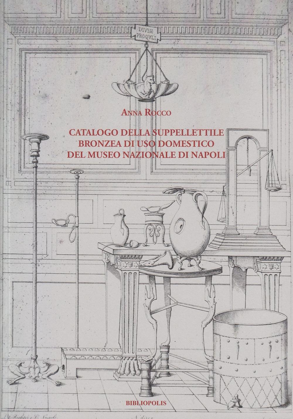 Catalogo della suppellettile bronzea di uso domestico del Museo Nazionale di Napoli
