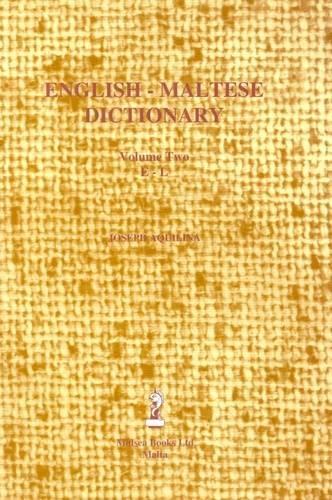 English-Maltese Dictionary: E-L V.2