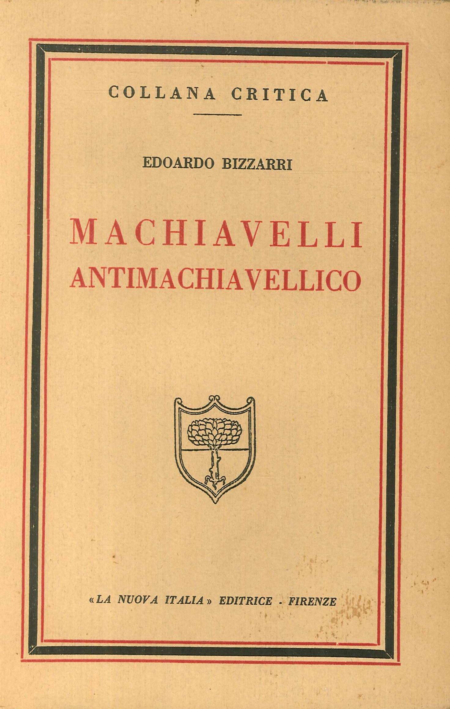 Machiavelli Antimachiavellico.