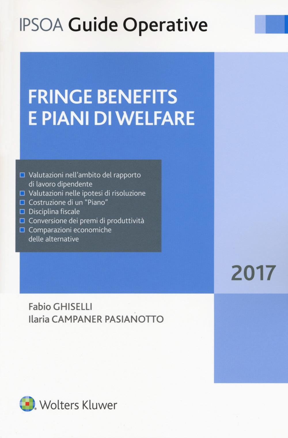Fringe benefits e piani di welfare. Con Contenuto digitale per download e accesso on line