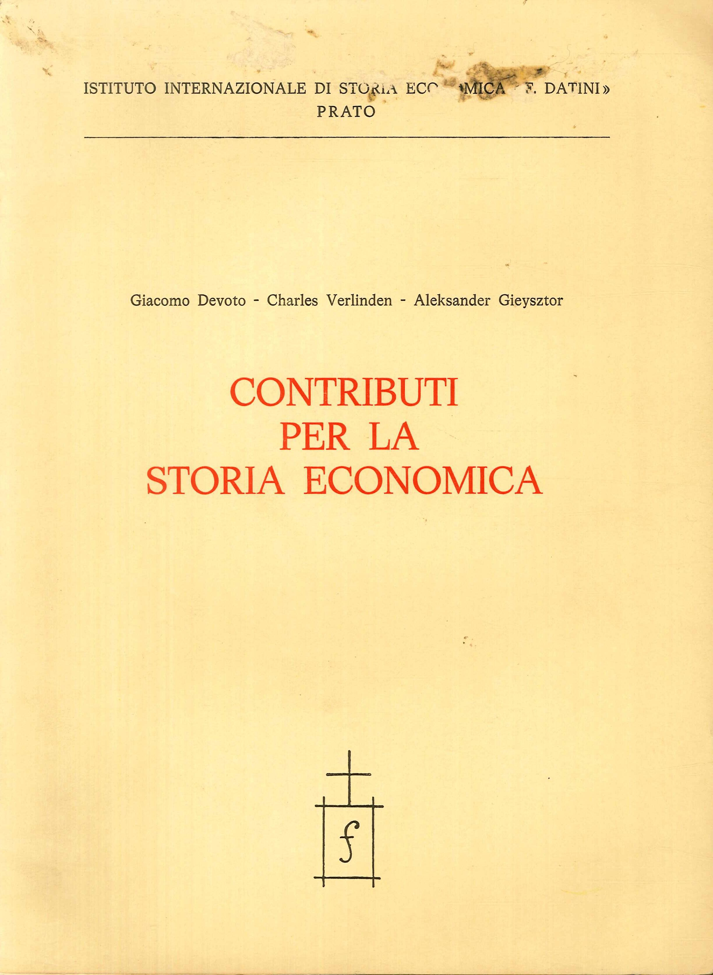 Contributi per la Storia Economica.