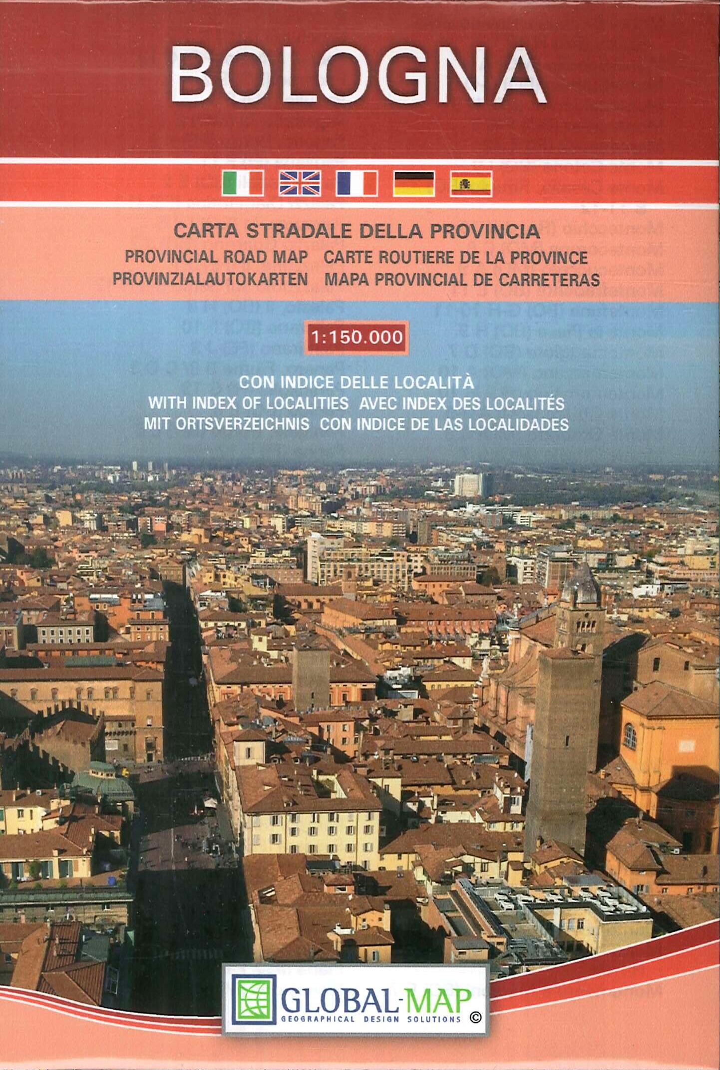 Bologna 1:150000. carta stradale della provincia. Provincial road map