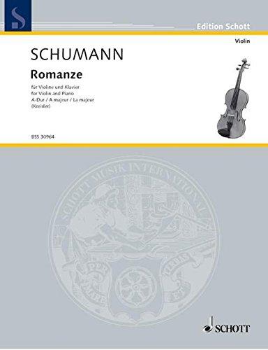 Romanze A-Dur: Violine Und Klavier