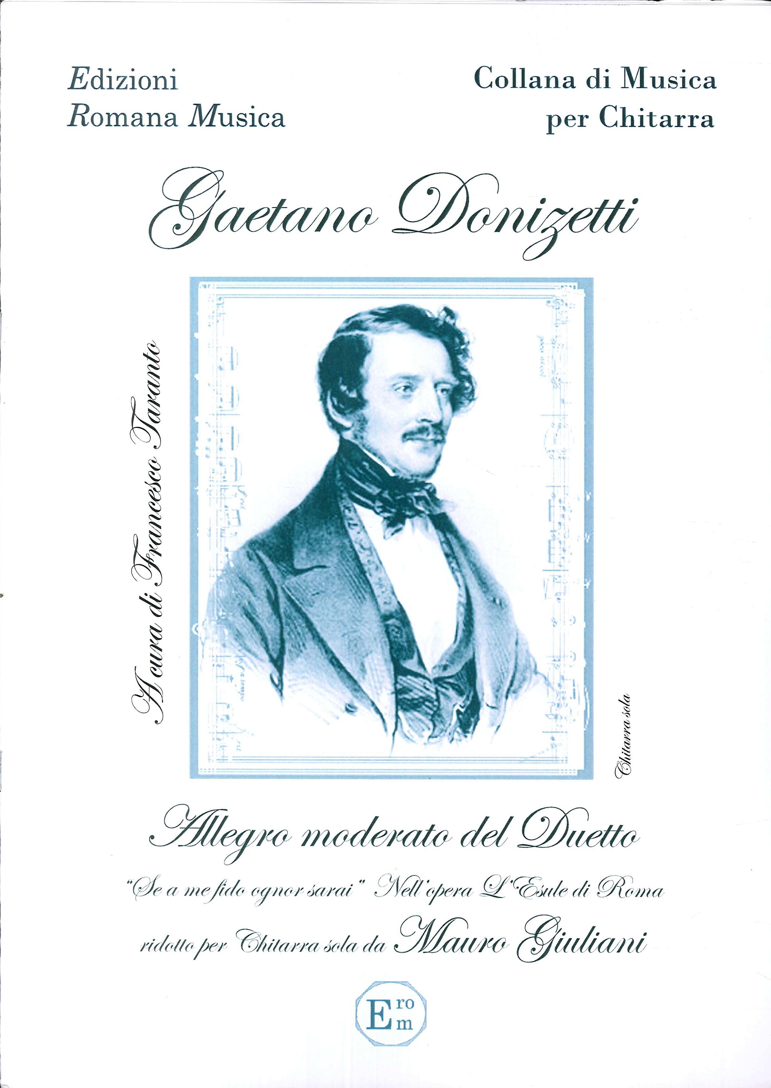 Gaetano Donizetti. Allegro Moderato del Duetto. Musica per Chitarra. Erom 0089.