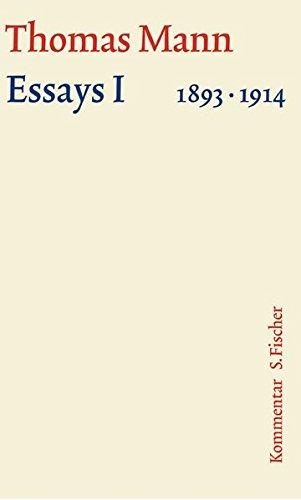 Essays 01. Große kommentierte Frankfurter Ausgabe. Kommentarband: 1893 - 1914: 14/2