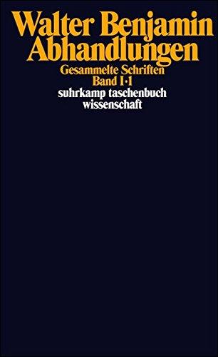 Gesammelte Schriften I. Abhandlungen