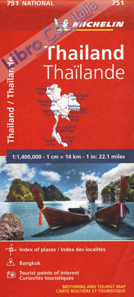 Carte Thaïlande Michelin