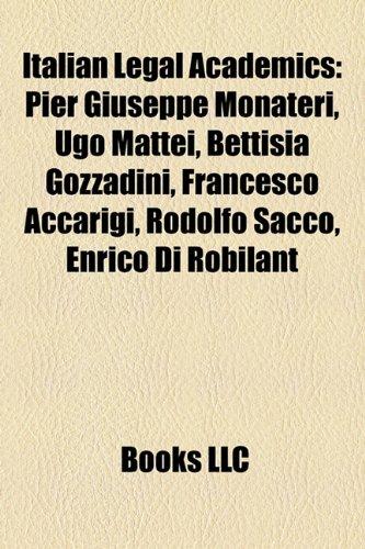 Italian Legal Academics