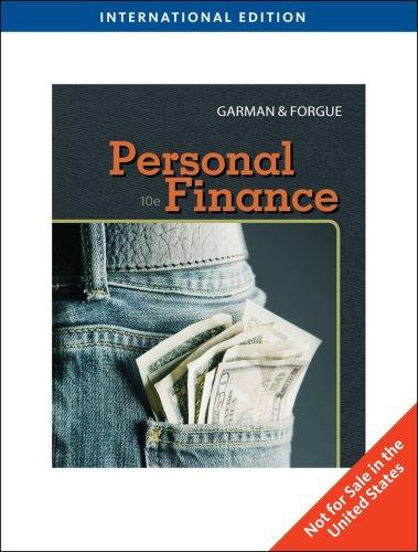 Personal Finance, International Edition
