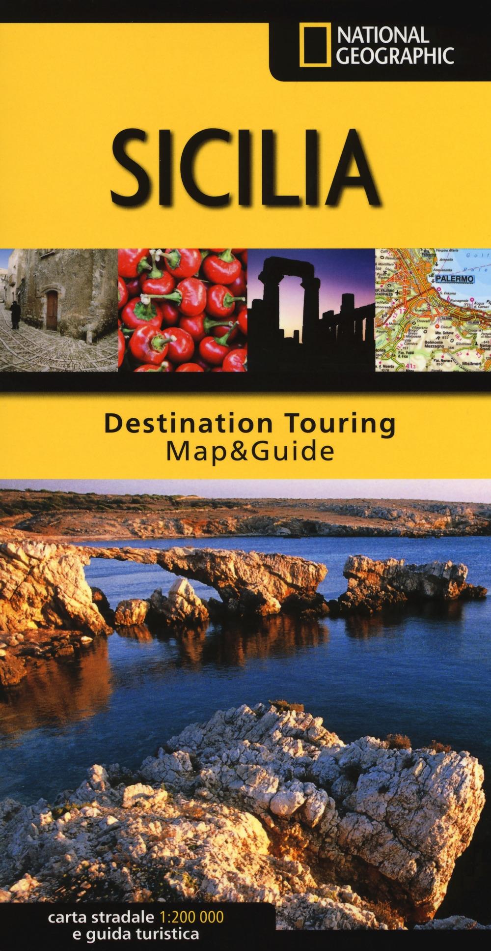 Sicilia. Carta stradale e guida turistica. 1:200.000