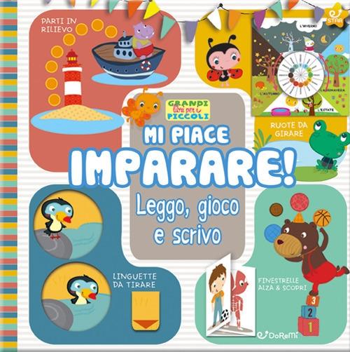Mi piace imparare! Leggo, gioco e scrivo. Grandi libri per i piccoli. Ediz. a colori