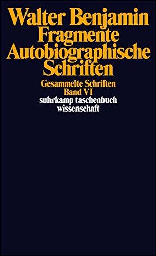 Gesammelte Schriften Vi. Fragmente. Autobiographische Schriften: Band Vi: Fragmente Vermischten Inhalts. Autobiographische Schriften