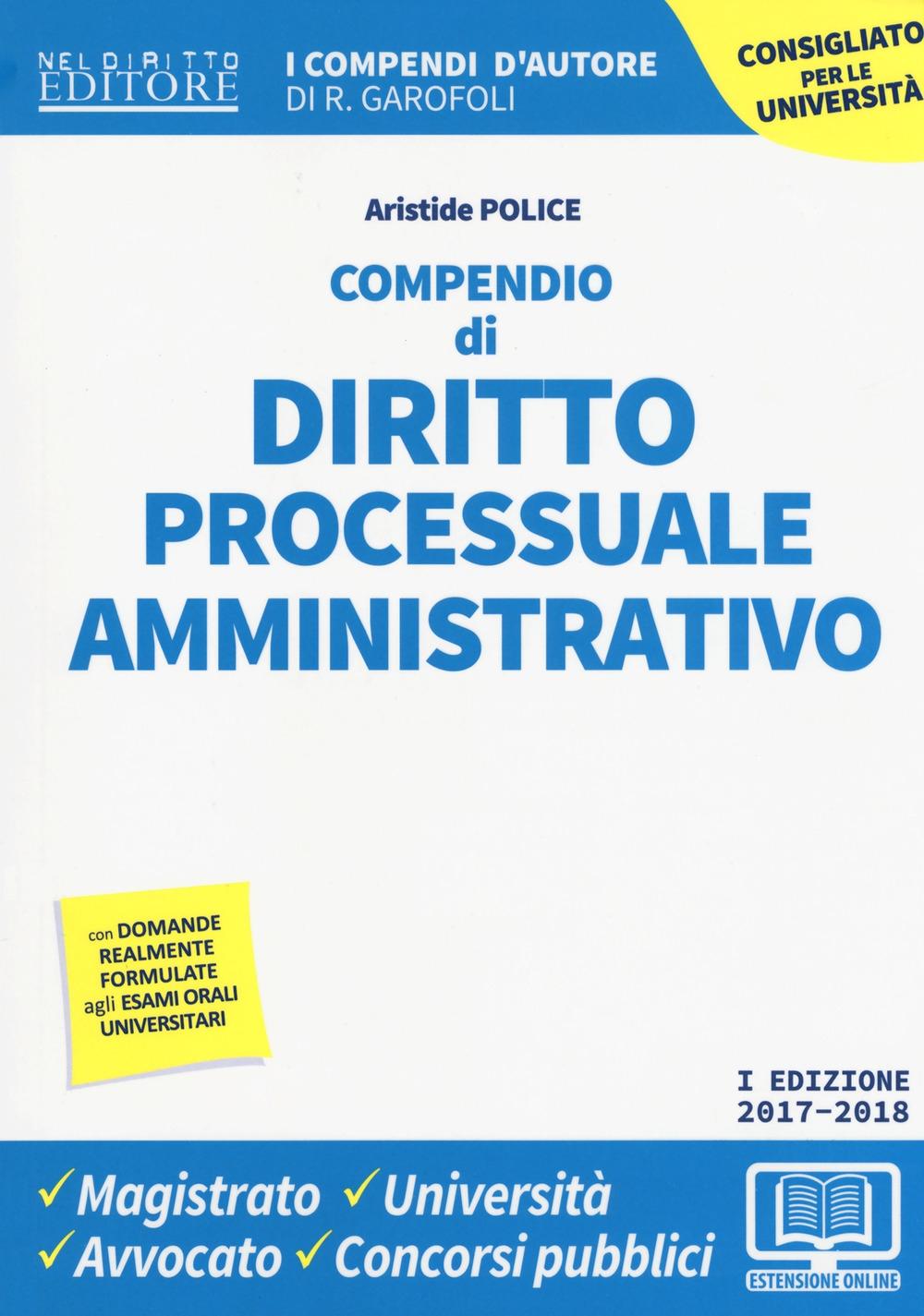 Compendio di diritto processuale amministrativo. Con Contenuto digitale per download e accesso on line