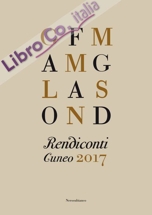 Rendiconti. Cuneo 2017
