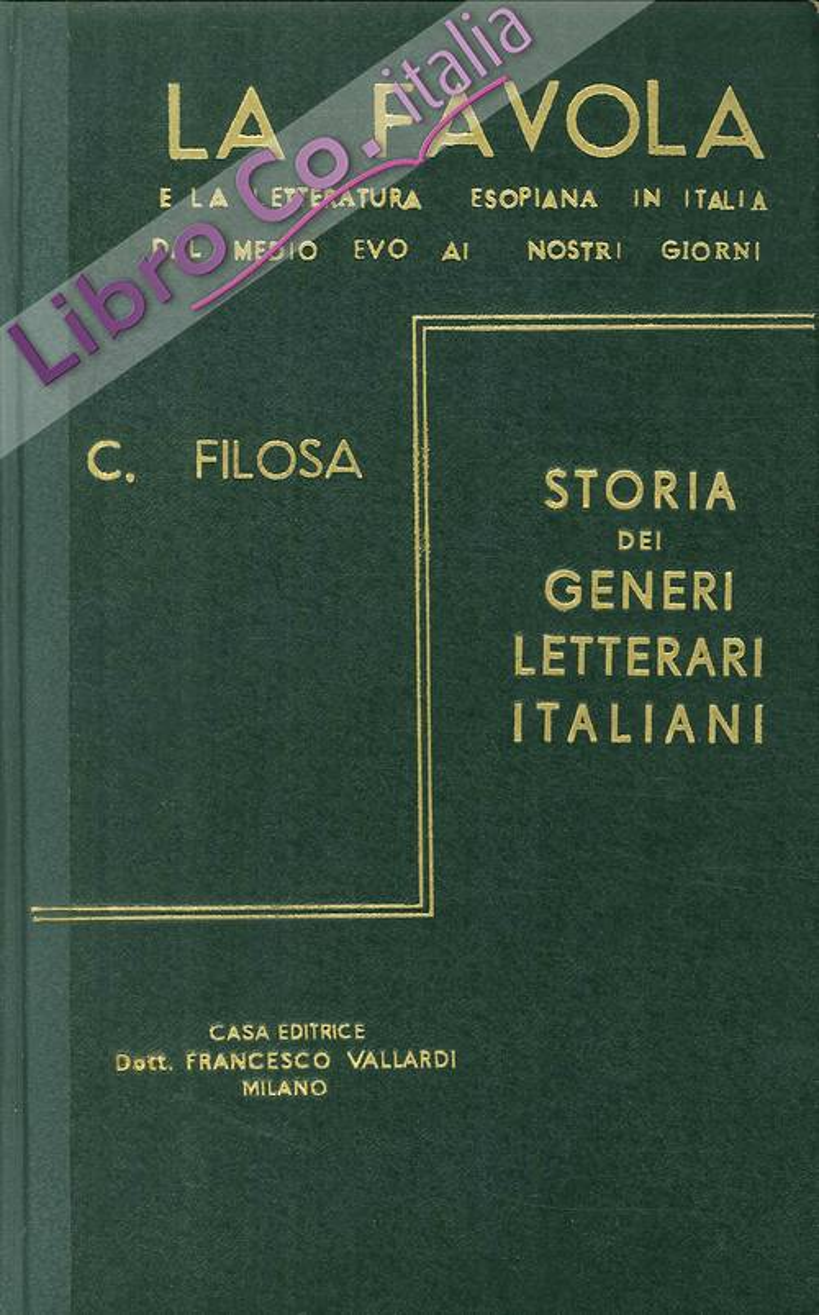 La favola e la letteratura esopiana in Italia dal Medio Evo ai nostri giorni