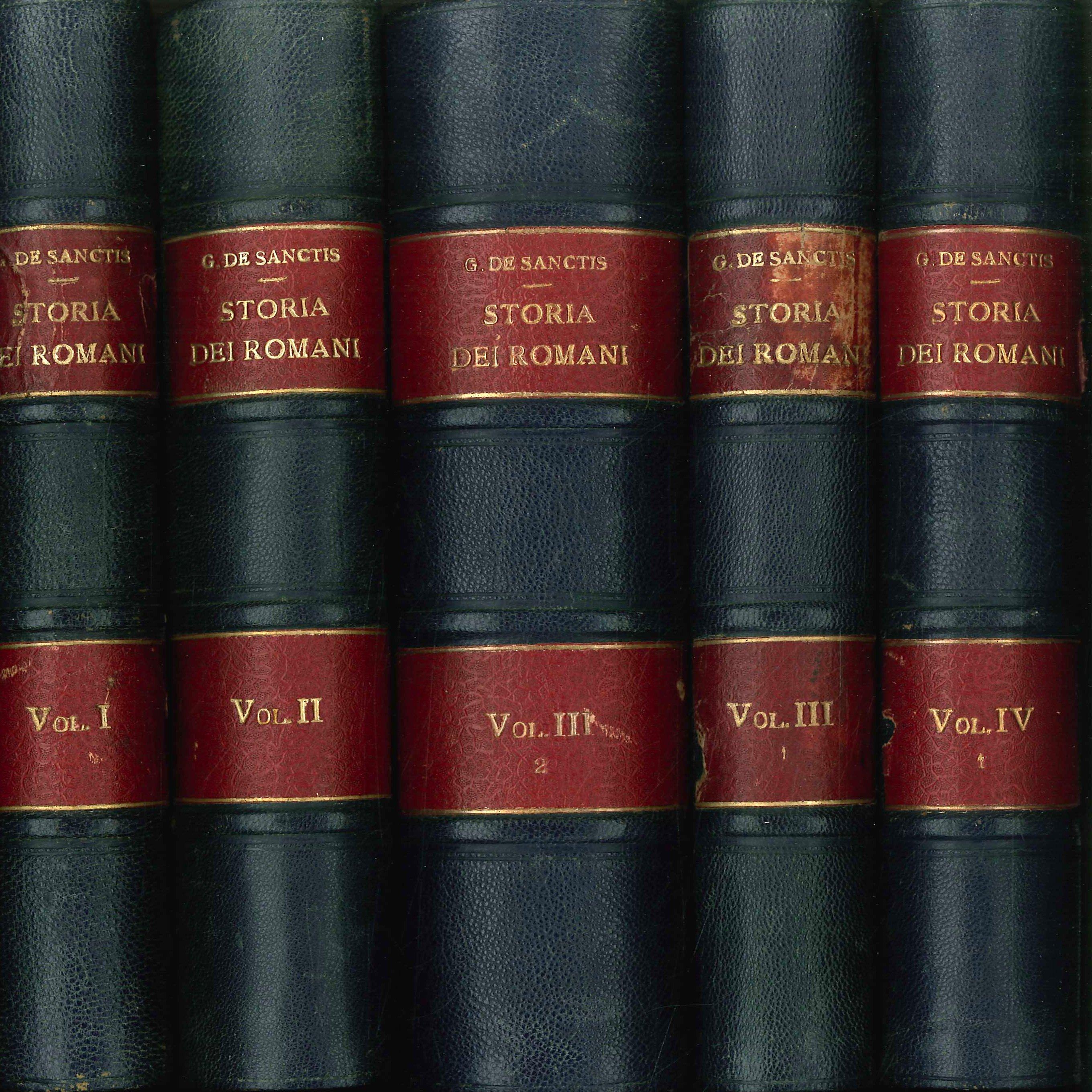 Storia dei Romani. 4 Volumi. 5 tomi. [Opera incompleta]