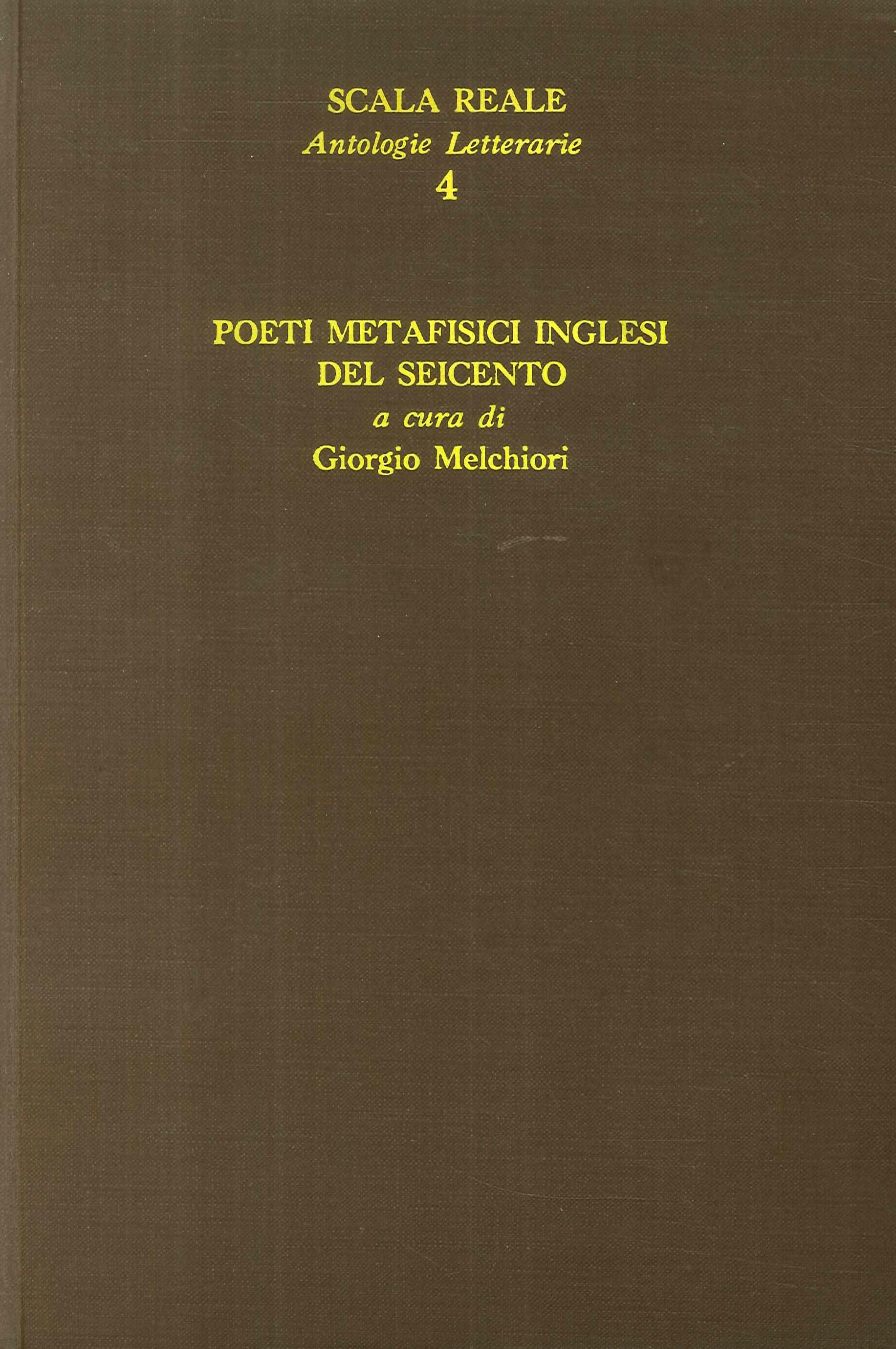 Poeti metafisici inglesi del Seicento