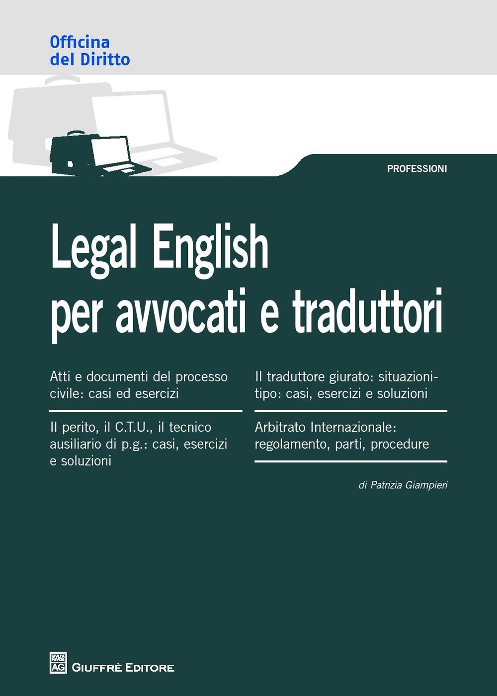 Legal english per avvocati e traduttori