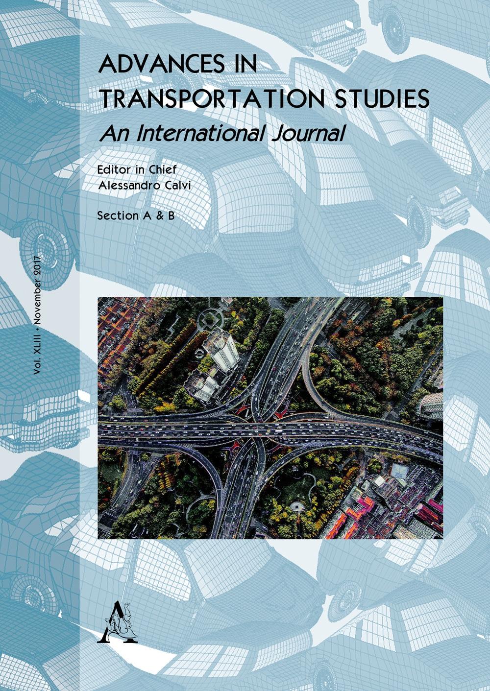 dvances in transportation studies. An international journal (2017). Vol. 33