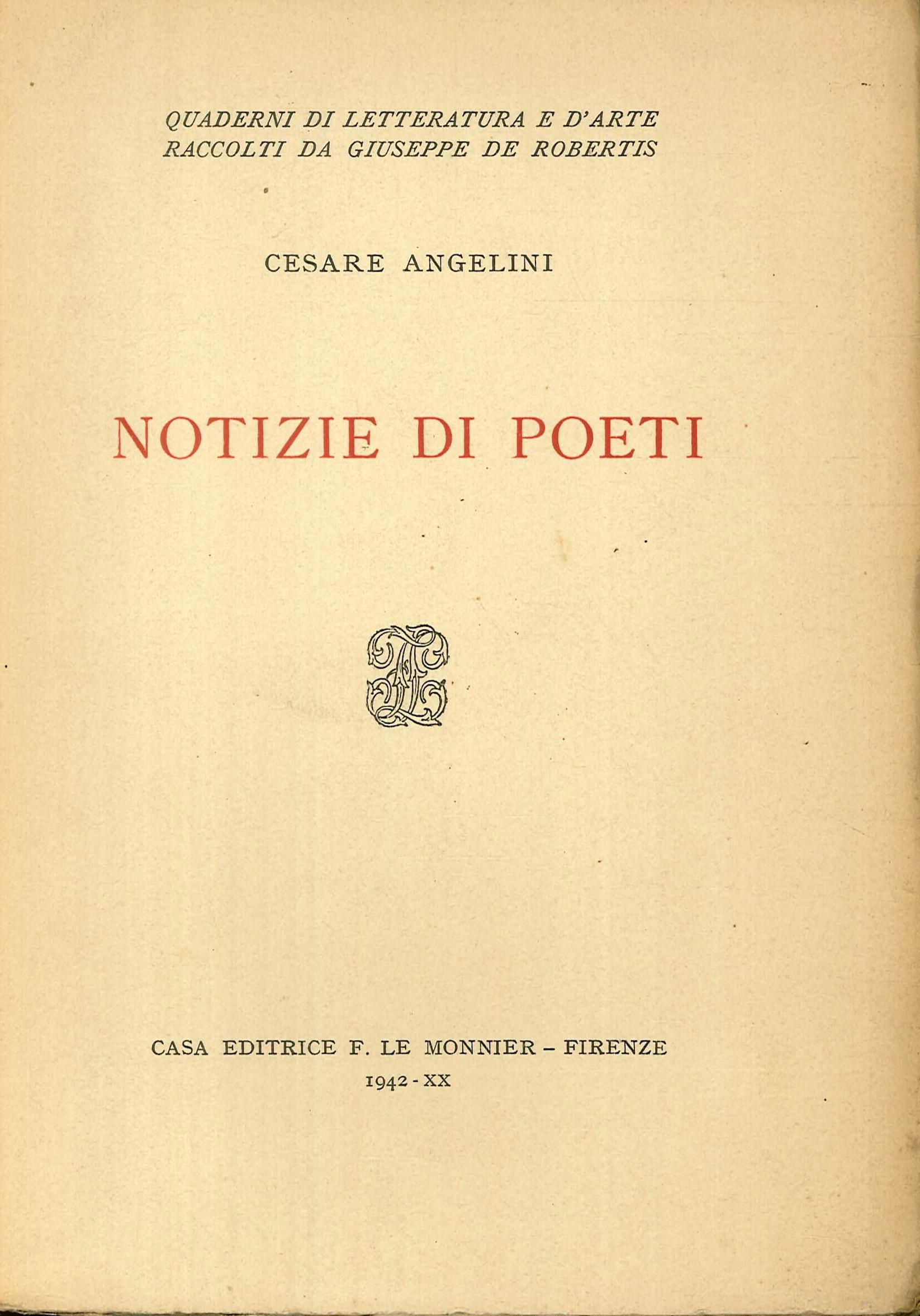 Notizie di poeti.