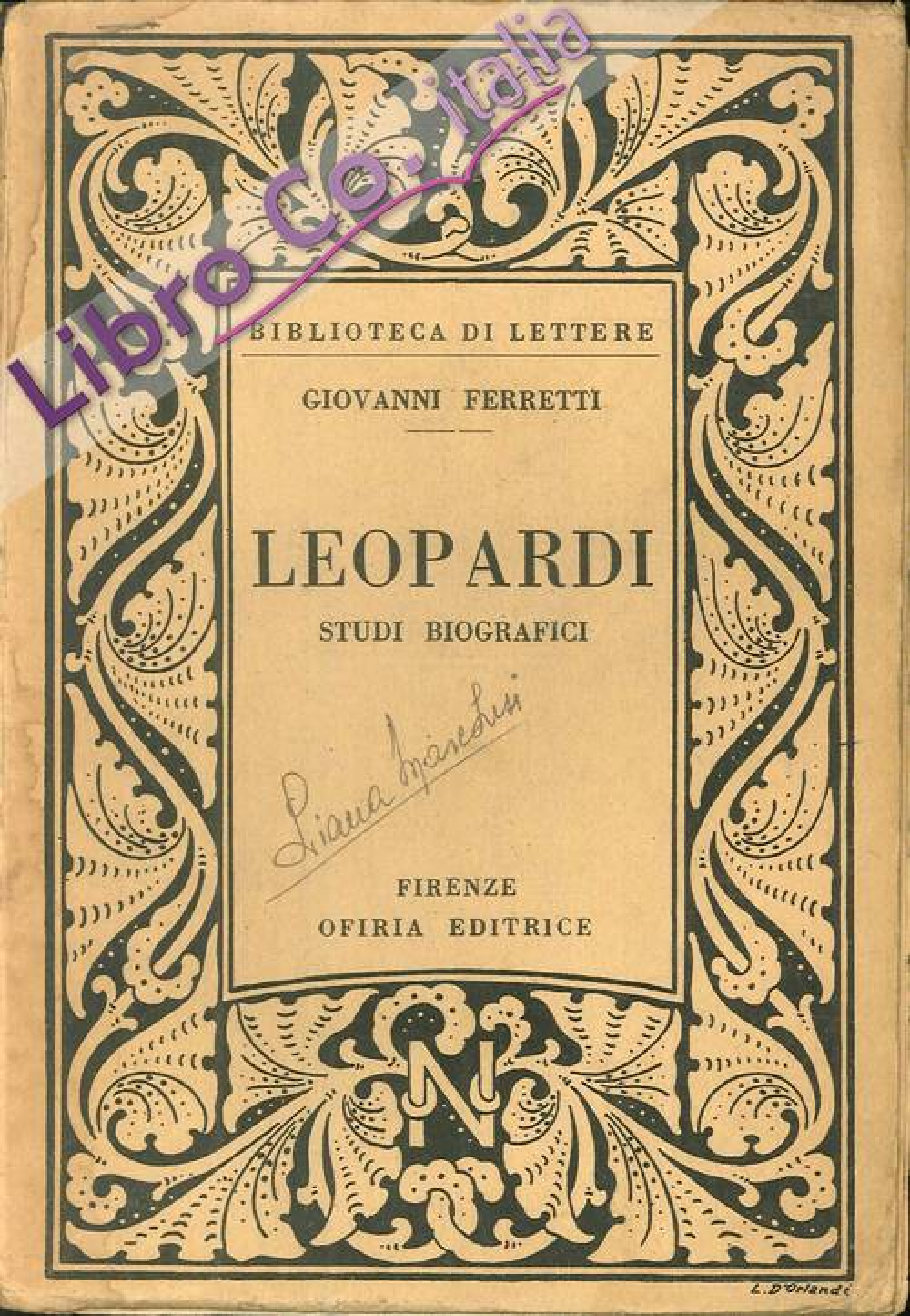 Leopardi. Studi biografici