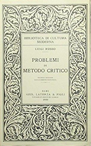 Problemi di metodo critico